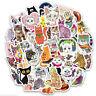 50Pcs/bag Cute cat stickers DIY scrapbooking suitcase laptop car sticker y4