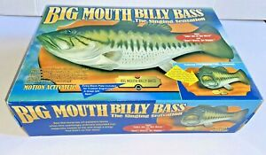 Vintage 1998 Gemmy Big Mouth Billy Bass Motion Activated Singing Fish Brand New
