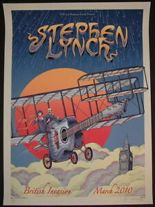 Emek Stephen Lynch British Invasion Poster Bone Edition S/N