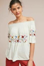 9f905d5e4bcd NWT Anthropologie Ranna Gill Embroidered Washoe Off-The-Shoulder Blouse sz  XL