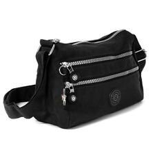 Umhängetasche Nylon Weiß/silber Damen Handtasche Bag Street