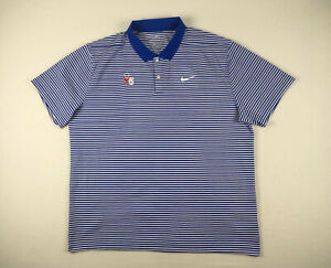 Philadelphia 76ers Nike Polo Shirt Men's Blue/White Dri-Fit NEW Multiple Sizes