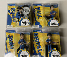 THE BEATLES McFARLANE SATURDAY MORNING CARTOON FIGURES SET OF 4 DOLLS NIP!