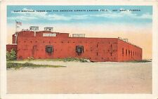 A85/ Key West Florida Postcard c1915 E Martello Tower Pan American Airways Field