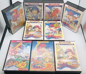 Lot 9 Nintendo Famicom NES Pro Yakyuu Family Stadium Sanma No Japan US Seller