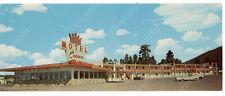 ad1-F  Postcard Crown Motel / Restaurant ROUTE 66 Rte Flagstaff AZ Bradshaw 204a
