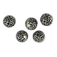 30Pcs Tibetan Silver ornate round spacer beads T16411