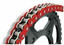 Chaînes et pignons rouges pour motocyclette