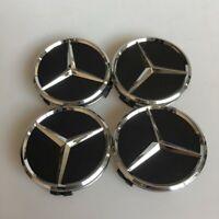 4x 60mm Für Mercedes Schwarz Nabendeckel Nabenkappen Felgendeckel Wheel Caps