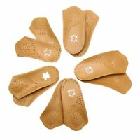 Unisex Arch Support Orthopedic Insoles Shoe Pad Breathable Genuine Leather 1pair