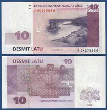 LETTLAND / LATVIA 10 Latu 2008 UNC  P.54