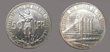 Belgium 1935 50 FR. Rare CHBU, Belgique,Sharp Detail, Luster Fields, Very Nice