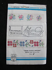 VINTAGE 1950's BRIGGS EMBROIDERY TRANSFER - FLORAL EDGE