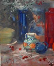 MEXICAN PITCHER Still Life Impressionist Oil Painting  Margaret Aycock