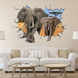 Wandtattoo Elefant Wandsticker Kinderzimmer Wandaufkleber Afrika