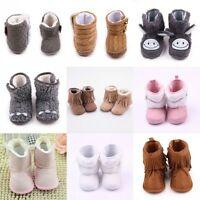 Baby Infant Child Boy Girls Warm Snow Boots Winter Toddler Crib Shoes 0-12Months