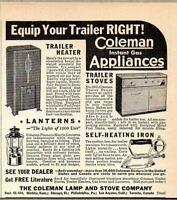 1937 Print Ad Coleman Trailer Heaters & Stoves Lanterns Wichita,KS