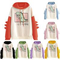 Kawaii Clothing Ropa Harajuku Dinosaur Rabbit Fleece Hoodie Sweatshirt Jumper