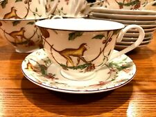 Monkey Business China Cup and Saucers 12 Sets Monkeys Floral Berry Vines India