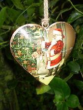 Precioso danés Colgante Vintage Navidad Corazón Decoración, Diseño A1
