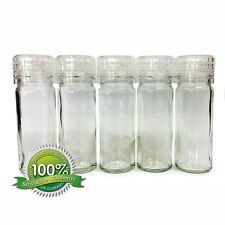 5 Qualität Glas Kräuter Gewürze Salz Schleifsteine mit Verstellbarem