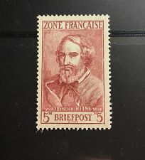 Germany French Zone 1945 Occupation Stamp 4N10 Poem Heine MNH OG