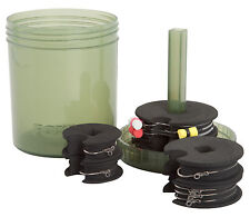 FOX MULTI CHOD & ZIG RIG BIN 6 DISCS 18 PINS CARP FISHING TACKLE STORAGE SYSTEM