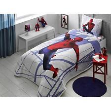 Spiderman Homecoming Kids Single Bedspread Set, 3 Pcs 100% Cotton Summer Bedding