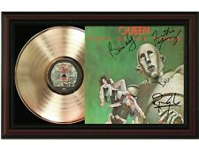 "Queen Framed Cherry wood Reproduction Signature LP Display. ""M4"""