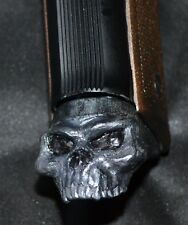Beretta Cougar model 8000 magazine extension pearl skull on black plastic