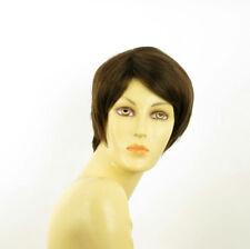 Parrucca donna corta cioccolato mechato rame : ALICIA 6H30