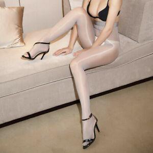 Women High Waist Oil Shiny Glossy Sheer Stockings Dance Tights Pantyhose Hosiery