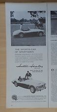1959 magazine ad for Austin Healey 100-Six at Blind Brook Polo Club Purchase NY