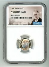 1994 S SILVER ROOSEVELT DIME 10C NGC PF 69 ULTRA CAMEO 6035587-026