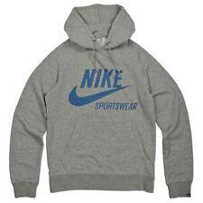 NIKE ropa deportiva Swoosh Sudadera Con Capucha Polar Gris Azul S s-3xl
