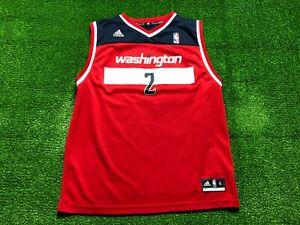 Adidas NBA Washington Wizards John Wall #2 Red Jersey Kids Size XL
