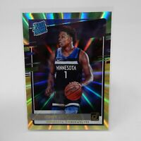 2020-21 Donruss Anthony Edwards Rated Rookie Green And Yellow Laser Holo Sp