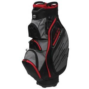 "Hot Z Golf 5.5 Cart Bag 2020 (Black/Gray/Red, 9.5"", 15-way top) NEW"