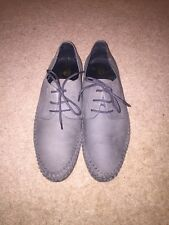 Red or Dead Grey Wash Leather Shoes Size UK 9 *C1