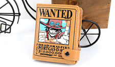One Piece Portgas D Ace Fire Fist Wanted Wallet Pirate Leather Cosplay Purse
