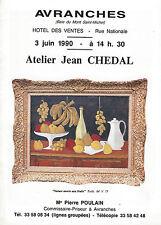 Catalogue de vente Atelier peinture Tableau JEAN CHEDAL 1990