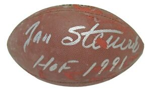 Jan Stenerud Signed Autographed Football HOF 1991 KC Chiefs  PSA/DNA AJ56044