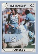UNC Mascot RAMESES 1990 card North Carolina Tar Heels Football NR MT
