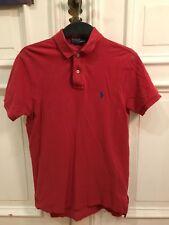 Polo Ralph Lauren Poloshirt Polo Shirt Rot Gr. S Custom Fit 100% Baumwolle