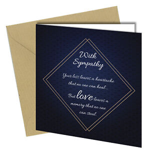 #1458 Sympathy Cards Bereavement Condolence Mourning Sorry For Your Loss Death