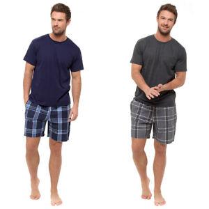 Mens Short Pyjama Set Cotton Pyjamas T Shirt Shorts Loungewear Sets Nightwear