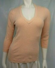 ae70f7a17bec6 New ListingOld Navy Ladies Sweater Top M Fitted Orange Sold Long Sleeve  Cotton Blend