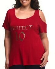 Baby Phat Women's Graphic T Shirt To PERFECT 10 Red Crimson Plus Size 2X XXL
