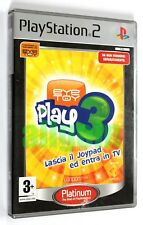 Sony PLAYSTATION 2 PS2 EYETOY EYE TOY PLAY 3 Sony 2005 Platinum SCES-53315/P