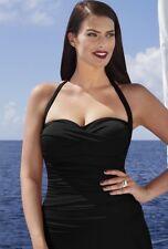 $48 NWT Black Convertible Tankini Swim Top Plus Sz  22 Swimsuits for all 1059